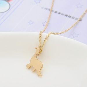 Goldtone Dinosaur Necklace